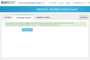 Das Zertifikat wurde erstellt