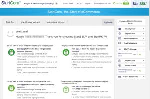 Login-Seite StartSSL