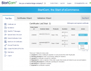 Zertifikat-Liste